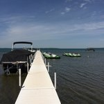 Dock and boat and jet ski rental behind the resort!