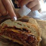 Pretzel burger - awe so good!