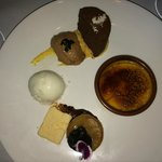 Moo Moo house made dessert Tasting Plate