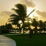 sunrise on the resort