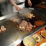 Food cooking in front of you