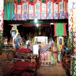 Inside the Thegchen chamber at the Rizong monastery