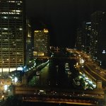 Night view of the river from our room