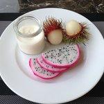 Fresh Yogurt and Exotic Fruit