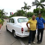Our guide and Agra and our driver