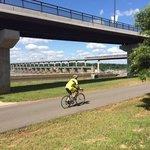 Big Dam Bridge Arkansas River trail