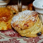 Scones with whipped butter and preserves