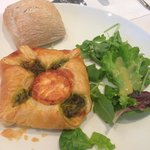 Tour dinner starter - goat cheese and spinach pie