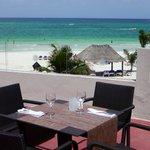 Terrace restaurant - indoor and outdoor seating overlooking beach