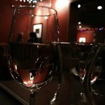 The view through Chardonnay, Silver Heights Restaurant and Lounge  |  2169 Portage Ave, Winnipeg