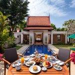 Lagoon Pool Villa in villa breakfast