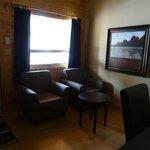 sitting area in Miette cabin