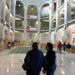 Palacio de Cibeles, at walking distance.