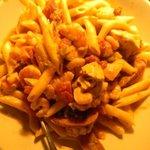cajun seafood over noodles