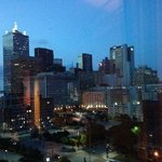 View of the Dallas skyline from our room