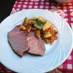 Pork shoulder and potatoes