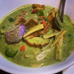 Green curry with tofu