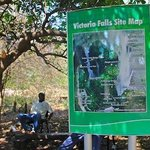 The Vicfalls set map sign in the park,