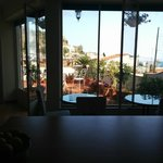 The view of the terrace from the kitchen (bad quality)