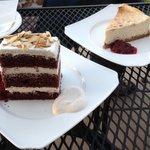 Chocolate Cake and Massive Cheesecake