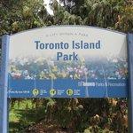 Toronto Island sign