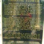 Sign board at Taman Bunga Raya