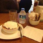Rice pudding wth ice cream