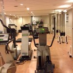 Fitness center. No free weights. Cable machine only D handles. Small