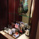 Pantry, mineral water here is chargable, the ones in bathroom is free. be careful.