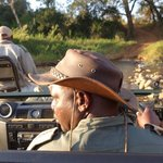 Our guide/ranger Morris and tracker Mosco
