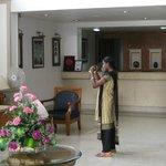 Reception desk,Arcadia Regency Hotel Alleppey Kerala/Alappuzha