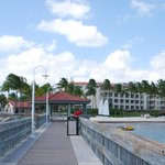 View of the hotel from the pier