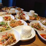 Thai tapas set lunch start from £8.50 ,available from 12.00pm to 3.00 pm.