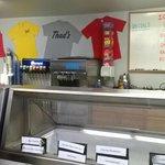 Friendly counter service.  Take home a t-shirt!