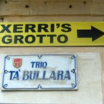 sign for the Grotto