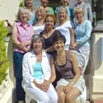 Our ladies group on the front steps
