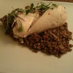 Chicken with puy lentils