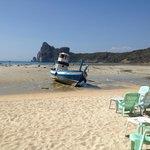 när vi kom till stranden var det EBB, snopet att ej kunna bada