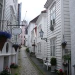 The guest house is on a very pretty cobbled street 10 mins walk from the centre of Bergen.