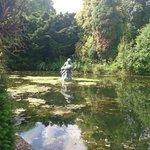 Statue on Lake