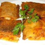 La original empanada de bacalao eataba sencillamente deliciosa