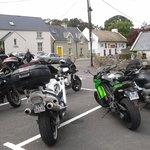 Our bikes outside Larkins