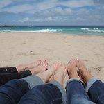 6 glückliche Füße
