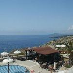 View over Kalithea Beach
