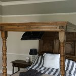 Comfy four poster bed. Slept so well :)