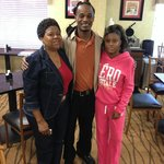 Dining Service with a Smile : Harris Family with Demetrius