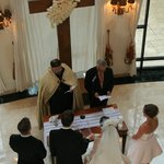 Wedding Ceremony in Lower Lobby