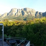 From 2nd floor overlooking the garden and Table Mountain