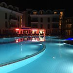 Pool at night and very inviting