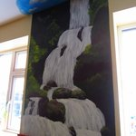 A painting on the walls in reception